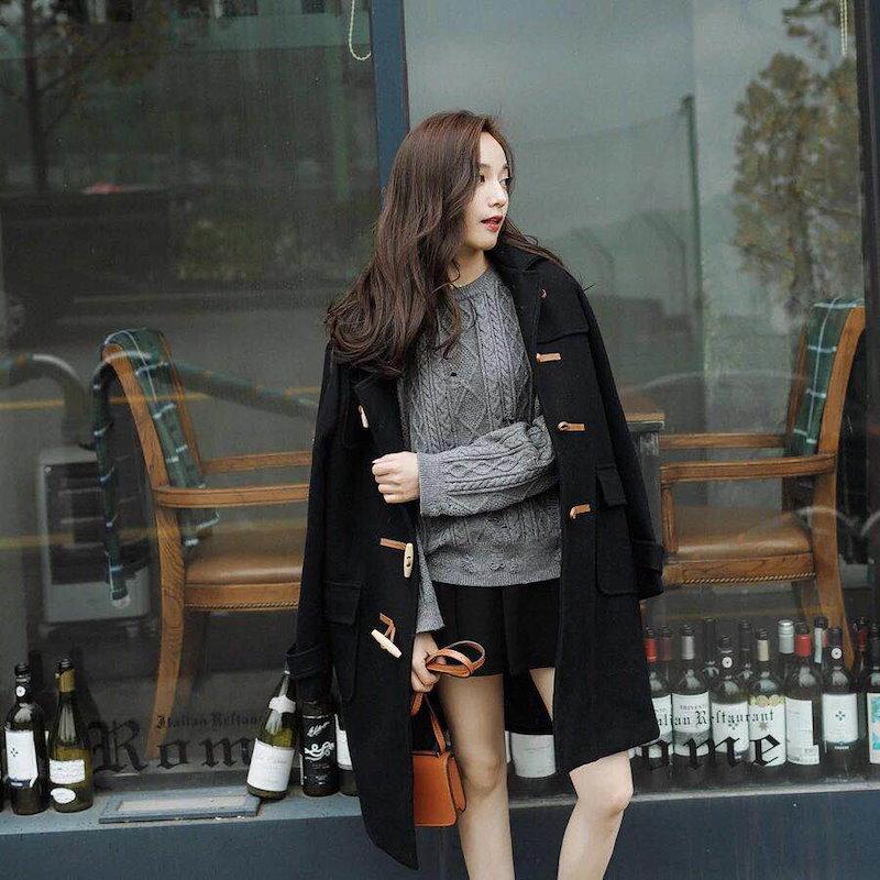 韓国ファッション★ダウンアウター★ロング中綿コート★しかっり暖かい★通勤通学★トレンチコート★