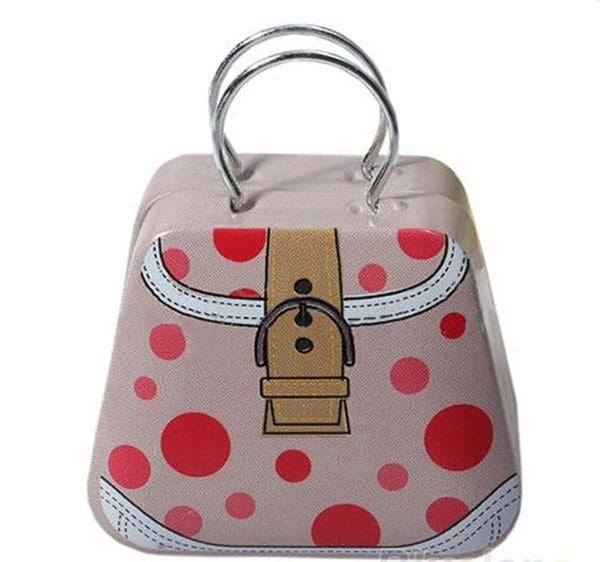 ホットギフトミニメタルカプセルハンドバッグコインバッグのストレージキャンディジュエリーケースボックス(色:多色)