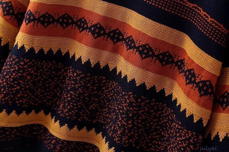 欧米風 レディース  レトロ ニット セーター ラウンドネック  カジュアル  ニットウエア 長袖  着やせ ニット