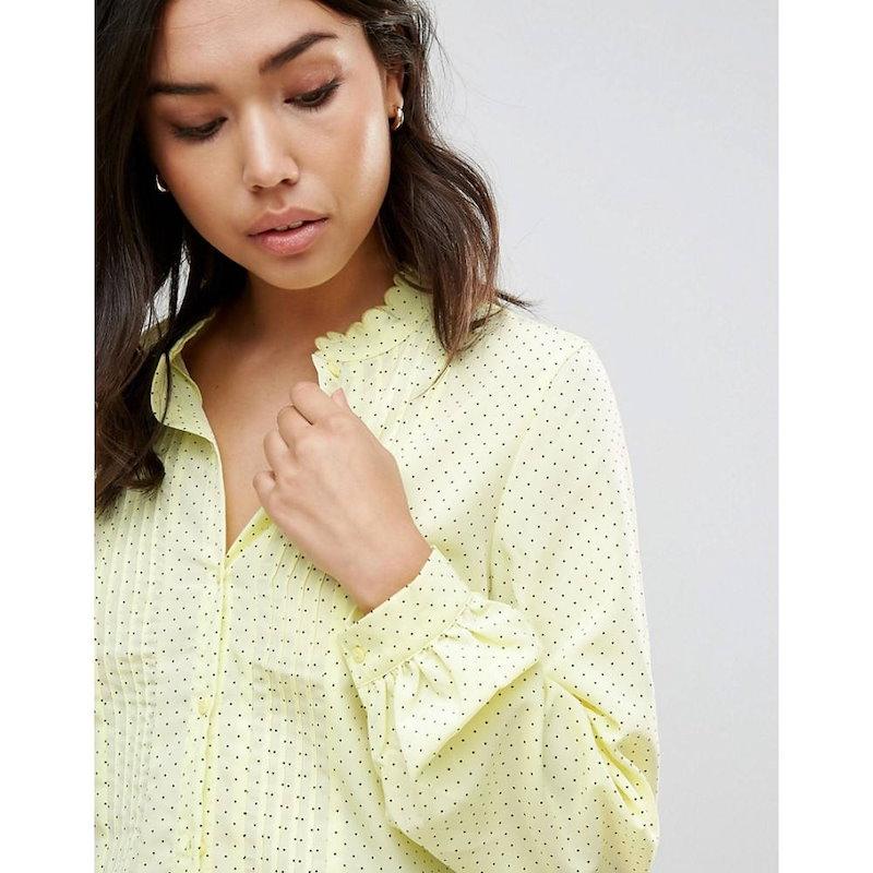 ヴェロモーダ レディース トップス ブラウス・シャツ【Vero Moda Fine Spot Blouse】Wax yellow