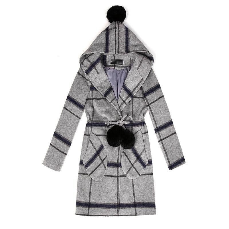 【送料無料】新品・高級感のあるスタイリッシュなデザインなジャケット 冬コート/細魅せ♪着膨れしない トレンチコート/冬のジャケット アウター♪チェック柄  レディースコート カシミヤタッチ 体型カバー