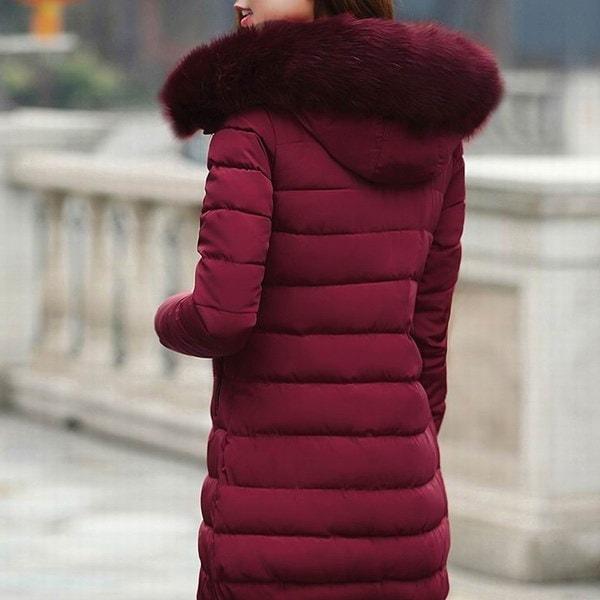 レディースウインタージャケットとコートウォームフード付きダウンコットンパディングパーカー女性用ウィンタージャケットフェマ