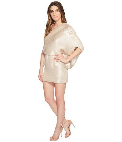 ハルストンヘリテージ レディース ワンピース トップス One Shoulder Jacquard Sleeve Dress