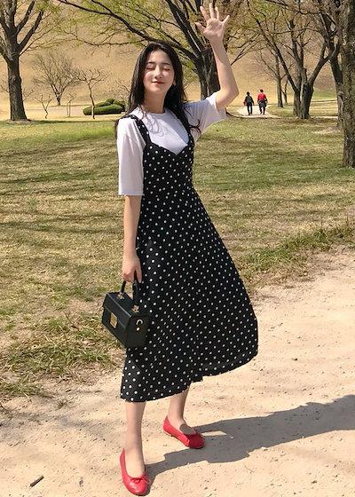 レトロかわいいドット柄ワンピース 結婚式 婚活 二次会 お呼ばれ パーティー ドレス 2018