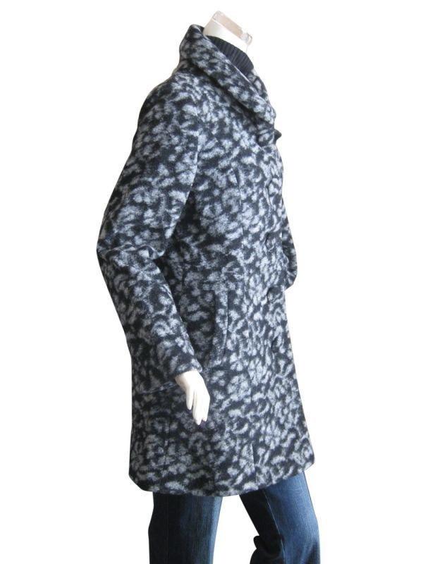 【送料無料】Laliberte イタリア製生地使用 軽量ウールコート <グレー/ Lサイズ>