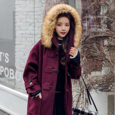 2017秋冬新品  フェックファー   レディース ラシャコート   秋 冬 防寒 雪 ジャケットアウター 韓国ファッション  ワインレッド、オフホワイト、イエロー