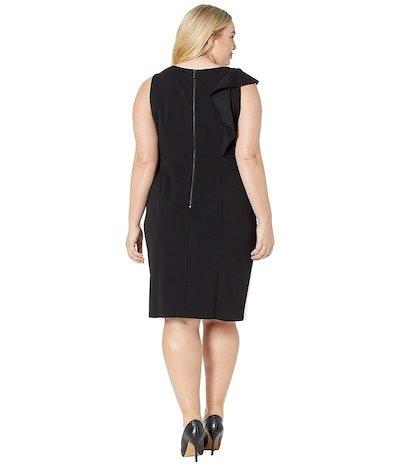 アドリアナ パペル レディース ワンピース トップス Plus Size Color Blocked Knit Crepe Sheath Dress