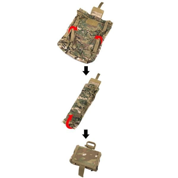 U. S.タイプ防水加工 生地使用折り畳みリュック BR059YN ブラック 〔 レプリカ 〕
