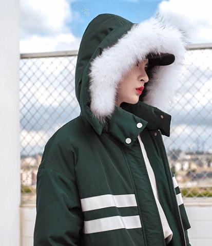 レディース ダウンジャケット コートジャケット ゆったり タヌキ毛襟 ミモレ丈 フード 棉服 冬