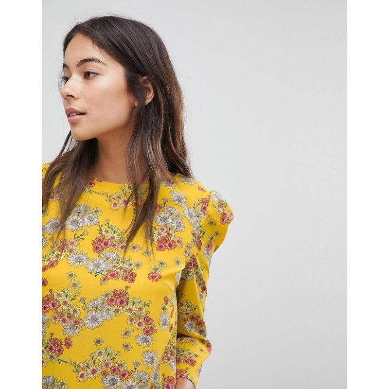 オアシス レディース トップス【Oasis Ditsy Daisy Print Top】Yellow