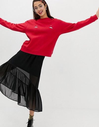 モンキ レディース ニット・セーター アウター Monki Holidays hat sweater