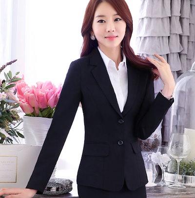 OL制服 スカートスーツ 大きいサイズ レディーススーツ 2点セット スーツ オフィス リクルートスーツ ママスーツ 入学式