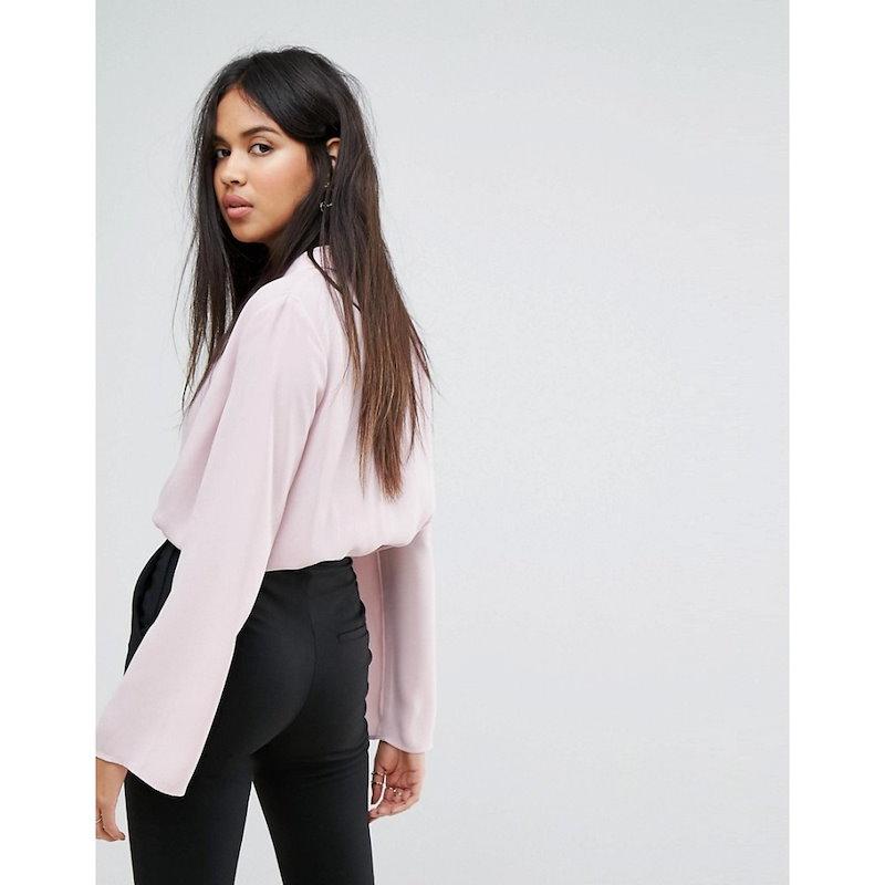 アイビーレベル レディース トップス ブラウス・シャツ【Ivyrevel Wrap Front Blouse】Dusty pink