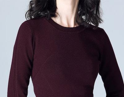 【e0093】ペプラムデザインニットトップス セーター フレア 大人かわいい