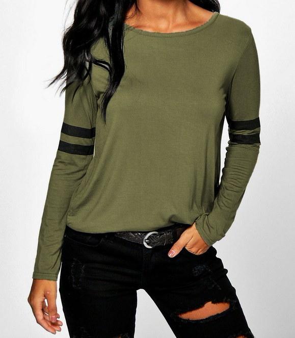 女性のファッションラウンドネックカジュアルロングスリーブTシャツトッププラスサイズXS-6XL