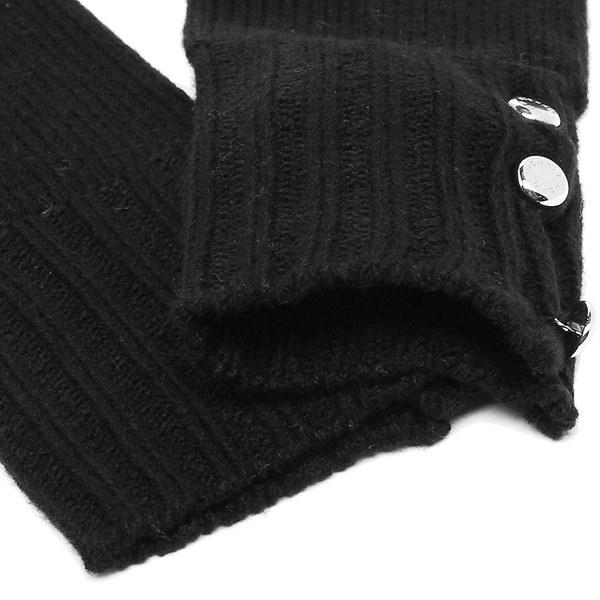 マイケルコース 手袋 MICHAEL KORS 537152 BLACK RIB GLOVE アクリル BLACK 黒