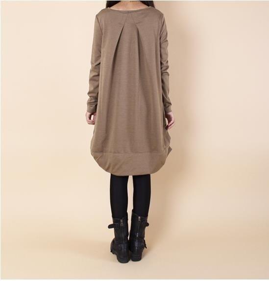プリーツ秋マタニティドレスプラスサイズの綿の服妊婦のための冬の服Pregn