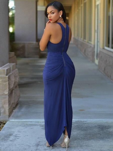 セクシーな赤い夕方のガウンダブルレイヤーフリルのウエディングドレス女性のマキシドレス