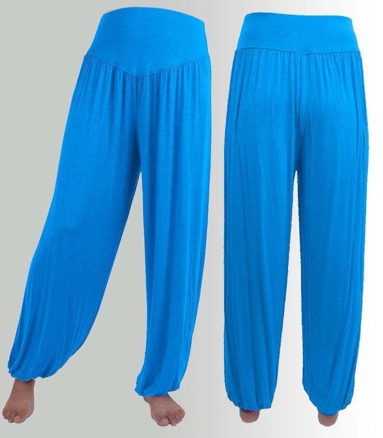 女性は快適なハーレムルーズロングパンツベリーダンスカジュアルボーホワイドパンツ