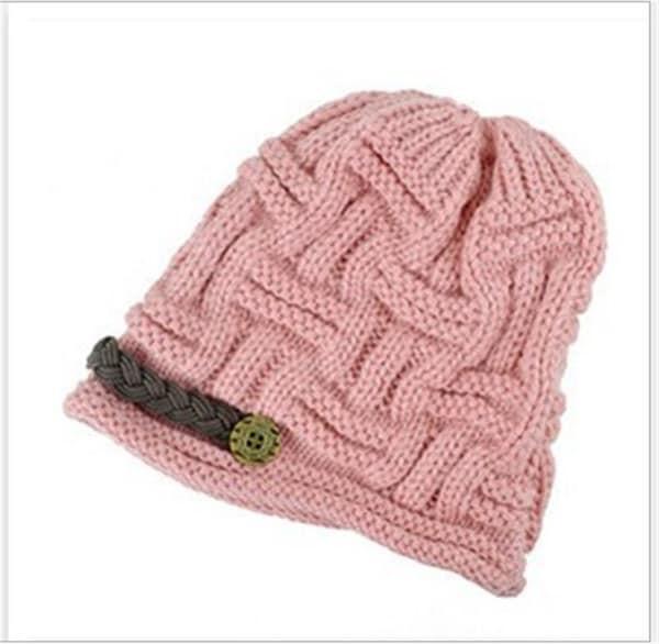 ベレー冬暖かいバギービーニーニットかぎ針編み帽子スラッヘスキーキャップ