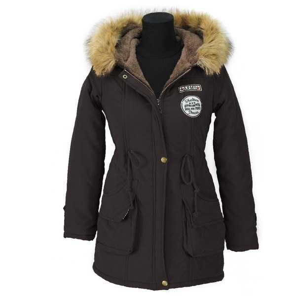 厚手パーカーズウィンタージャケット女性のコート女性のアウターウェアプラスサイズカジュアルロングダウンコットンワデ