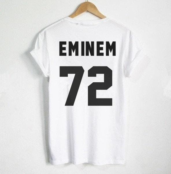 エミネムTシャツEMINEM 72プリントバックサイドTシャツレディースTシャツカジュアルコットンファニーシャツZH