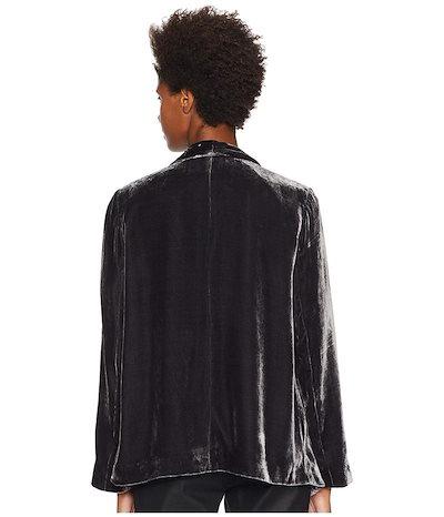 エイリーンフィッシャー レディース コート アウター Velvet Angled Shaped Jacket