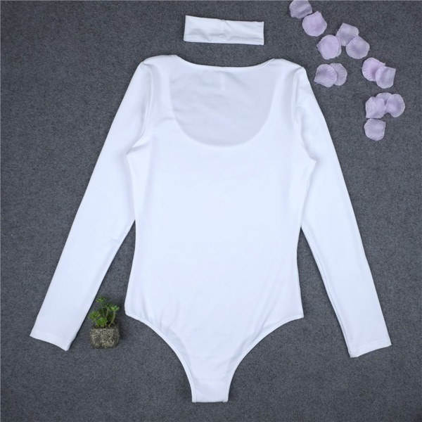 Fashion Sexy Women Long Sleeve Stretch Bodysuit Lady Leotard Body Tops T-shirt Blouse