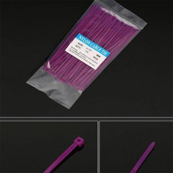 高品質の黒と白の色の自動ロックケーブルのタイ3 * 150ナイロンケーブルタイのプラスチックケーブルタイ