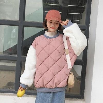 冬/女性服/韓国風/ルース/手厚い/ヘッジ/コットンコート/かわいい/+/ふわふわ/袖/暖かい/コットンコート/アウターウェア/学生