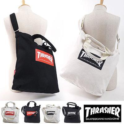 THRASHER【日本正規品】スラッシャー THRASHER トートバッグ TOTE BAGショルダーストラップ付 メンズ レディース かばん (THC-803 FW18)