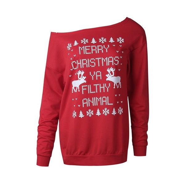 2017冬のクリスマスツリープリントスウェットクリスマスセーター(S-XL)