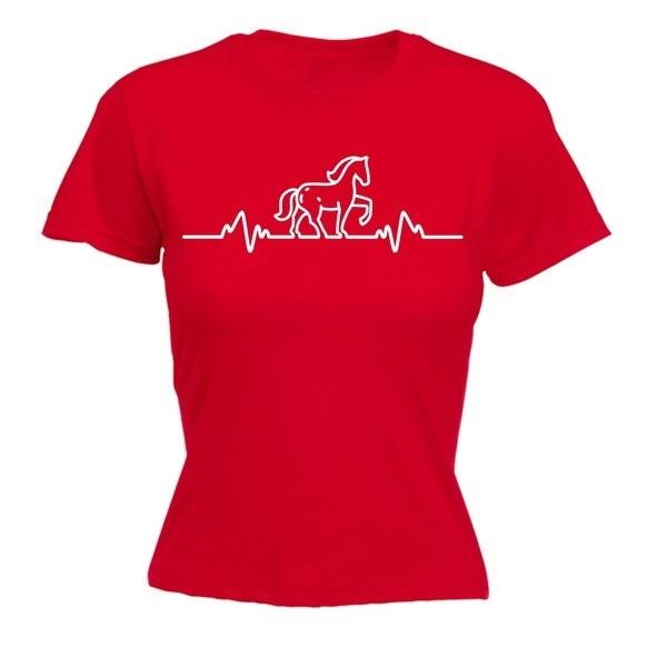 123t女性の馬のパルス - フィットTシャツ - 面白いレディースTシャツファッション衣類