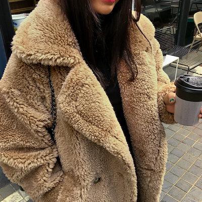 もこもこ ビッグ オルチャン レディース ボアコート オルチャンファッション 韓国ファッション