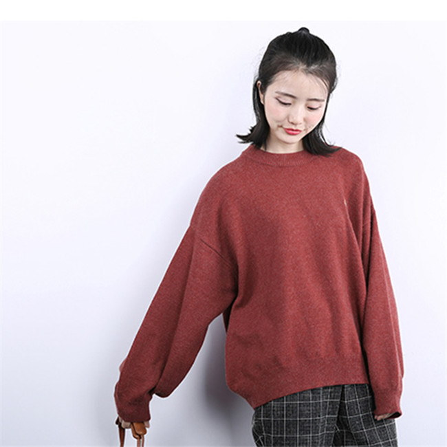 レディース  セーター   ♥韓国ファッション♥セーター  ♥ 刺繍 Sweet 長袖  knit swearter  ゆるかニットセーター ゆとりの、修身、独特のデザイン  パフスリーブ 送料無料