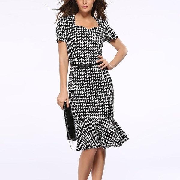 レディース夏ファッションひそひげスリムパッケージヒップドレスフィッシュテールドレス鉛筆スカートイブニングドレス