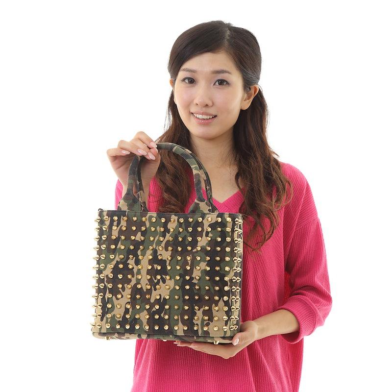 【即納】送料無料 エキドナ ハリートート スタッズバッグ(トートバッグ/ハンドバッグ/クラッチバッグ)
