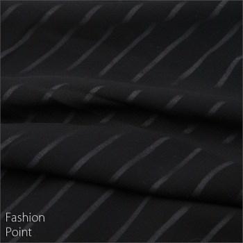 【2014春物新作】ボーダータンク×シフォン☆フェイクアンサンブル(BLACK:ブラック)Fサイズ