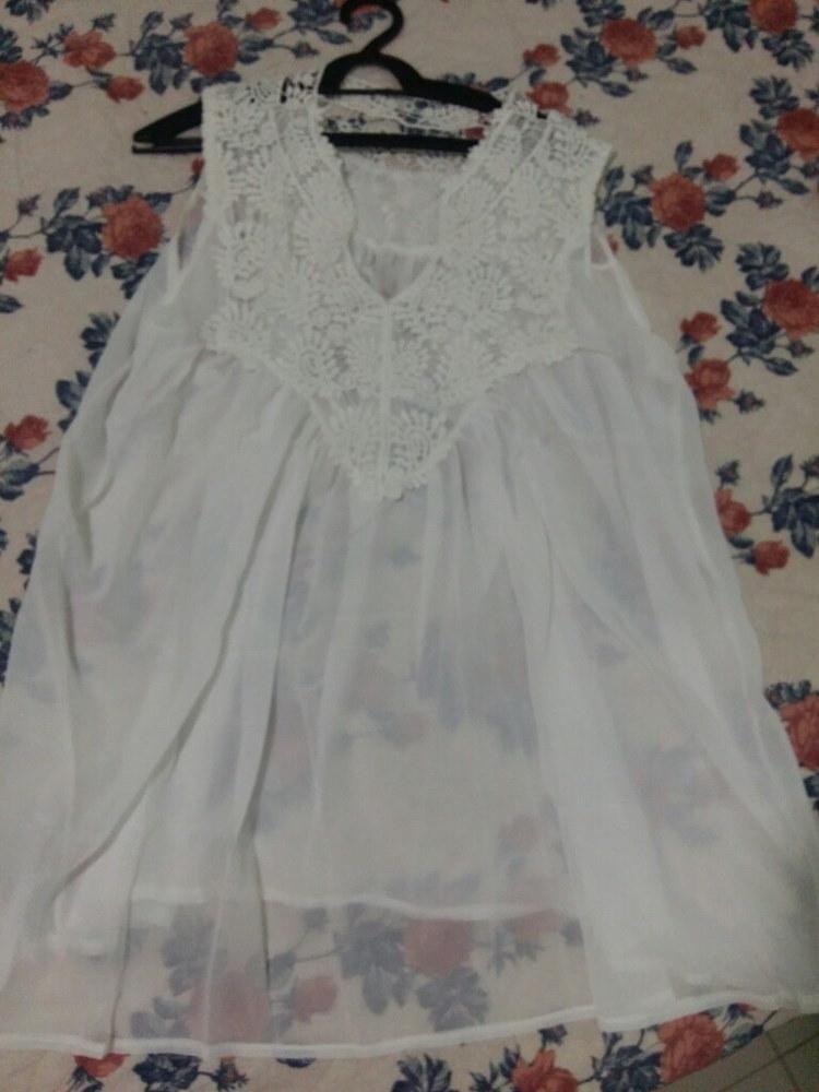 ホット女性のブラウスセクシーなVネックchemise織りシャツノースリーブvetement femme Summer blusas de renda f