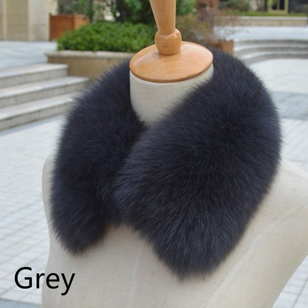 リアルファームフォックスファーカラー女性のスカーフショールストールラップファーネックギフト13色
