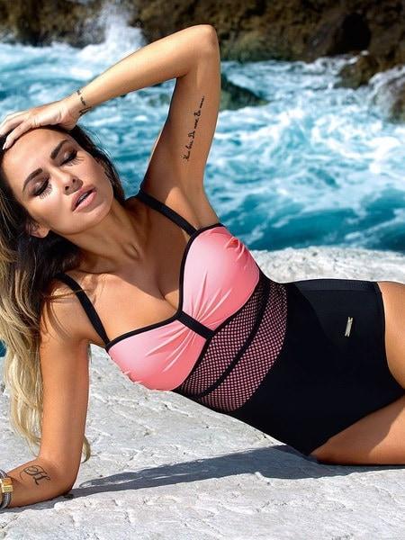 新しい女性のワンピース水着パットビキニ水着入浴Monokini Bikini
