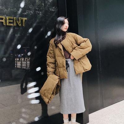 韓國ファッションシ ドルマンスリーブ  カジュアルジャケット中綿 BF風 長袖コート  通勤 韓國風  アウター ゆったり