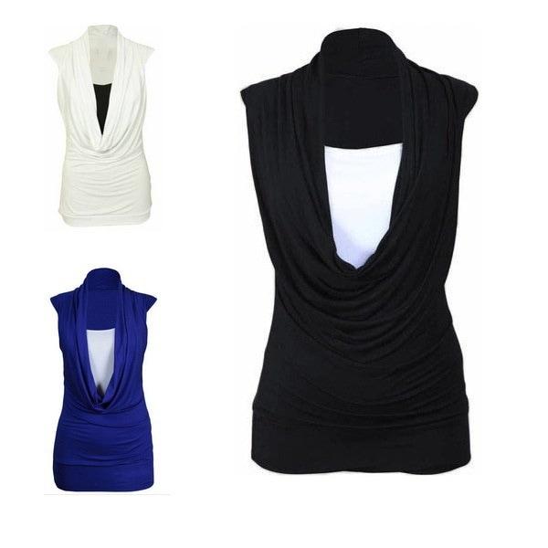 新しい女性が集めたカウルカジュアルネックトップ控えめな長袖シャツBLOUSE LADIESファッションサイズML XL