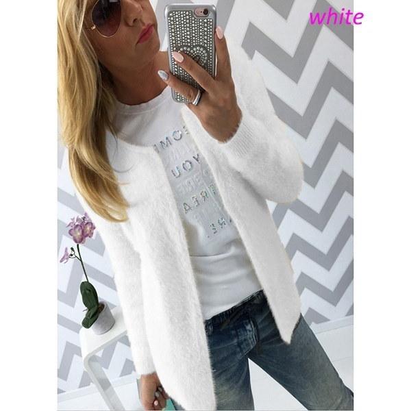 女性用ウィンターファッションレディースファッションカーディガンウィンターコートファーセーターカーディガンとジャケット