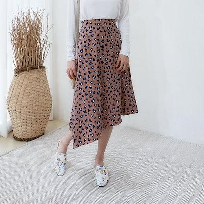 [ヒョウスカート、ck074]スタイルのカフェハートオンバルヒョウスカートスカート虎デザインスカート