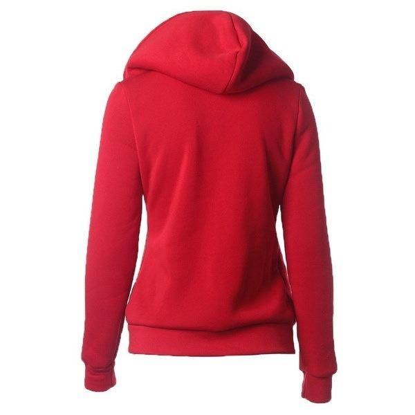 レディースカジュアルスエットシャツパーカージャケットサイドジッパー7色