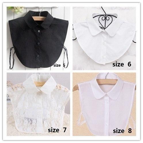 取り外し可能な首輪レディースブラウスフォールカラー服シャツ(12スタイル)
