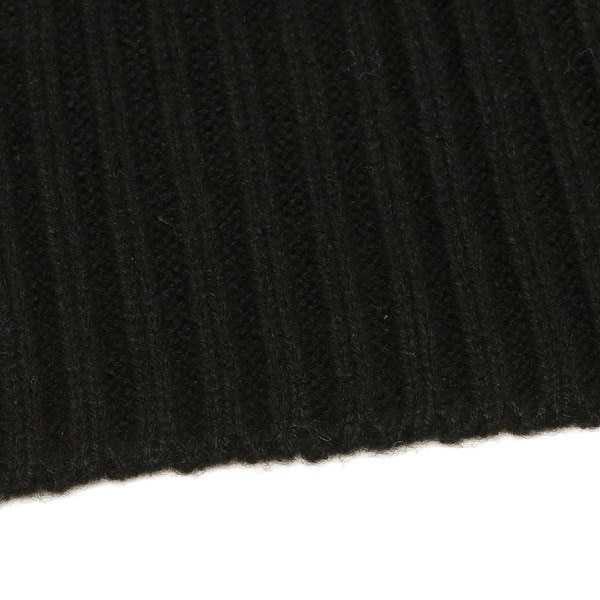 マイケルコース マフラー MICHAEL KORS 537173 BLACK RIB LOGO PATCH MUFFLER 約W25cm×H183cm アクリル BLACK 黒