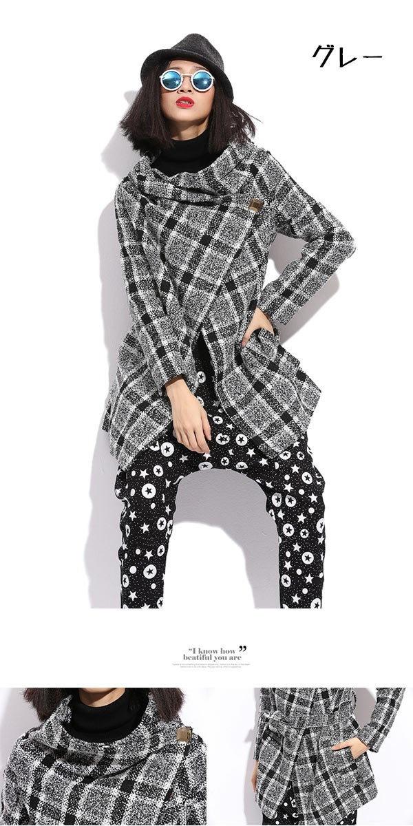 【送料無料】【メール便不可】ツイードコート、ブークレーコート、アウター チェック柄コート ふんわりモコモコな肌触り柔らかなツイード素材でほっこり温かなオシャレライトアウター♪ゆったり 2色[TBMR]