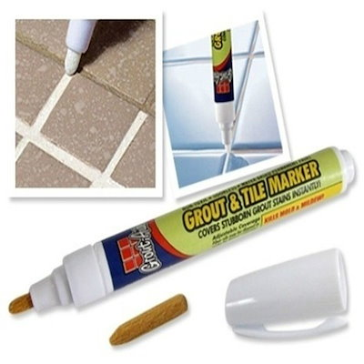 Grout Aide - Grout&Tile Marker Repair Wall Pen white Grout Marker Odorless Non Toxic For Tiles Floor